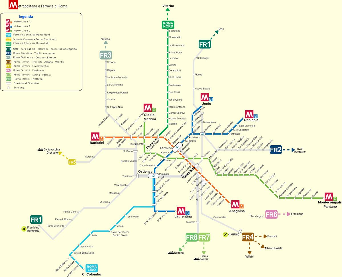 roma-metro-ulasim-haritasi-metro-map